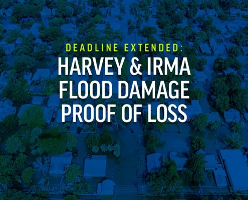Deadline extended for Hurricane Harvey and Irma flood damage proof of loss - McDonaldLawFirm.com