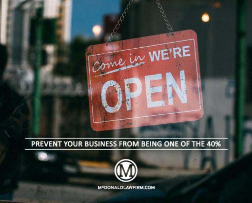 Prevent Your Business From Being One of The 40% - McDonaldLawFirm.com